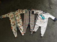 Next sleepsuits x3 0-3 months