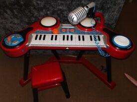Toy Keyboard/drum pads/dj scratch pad