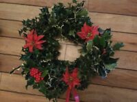 Fresh holly wreaths / Christmas displays