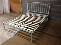 New double 4ft6 metal bed frame