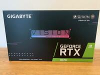 Gigabyte NVIDIA GeForce RTX 3070 8GB Vision OC Graphics Card GPU w/warranty