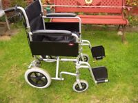 Enigma lightweight folding wheelchair, imaculate order,very little use.