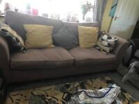 Sofa brown 4 seater marks and Spencer's