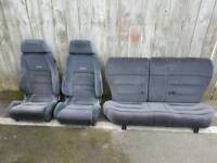 ford RECARO rs 2000 escort mk5 trim seats buckets ( xr3i ghia orion rs cosworth )