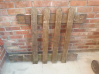 3x used wooden fence panels