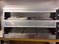 Hot Display Cabinet Double Deck Chicken Heated Display Like Henny Penny