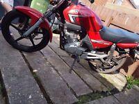 Yamaha ybr 125cc with leo vince exhaust