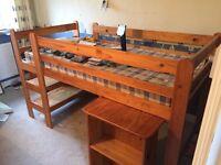 Cabin bed, bedroom furniture/craft, sliding door cupboard