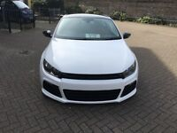 Vw scirocco R replica 2011 61 bluemotion diesel white modified air ride £30 road tax
