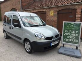 58 RENAULT KANGOO 1.2 16V AUTHENTIQUE, VERY LOW MILEAGE, 15,600, DISABILITY VEHICLE, WHEEL CHAIR
