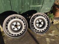 Two steel wheels for VW Transporter