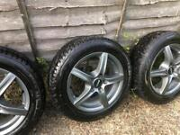 "5x100 15"" alloys with tyres like new golf fabia polo ibiza"