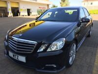 REDUCED BY £1,000!! 2010 MERCEDES BENZ E220 2.1 CDI B/EFF' SPORTS TIP, 4DR, SALOON, DIESEL AUTO BLK