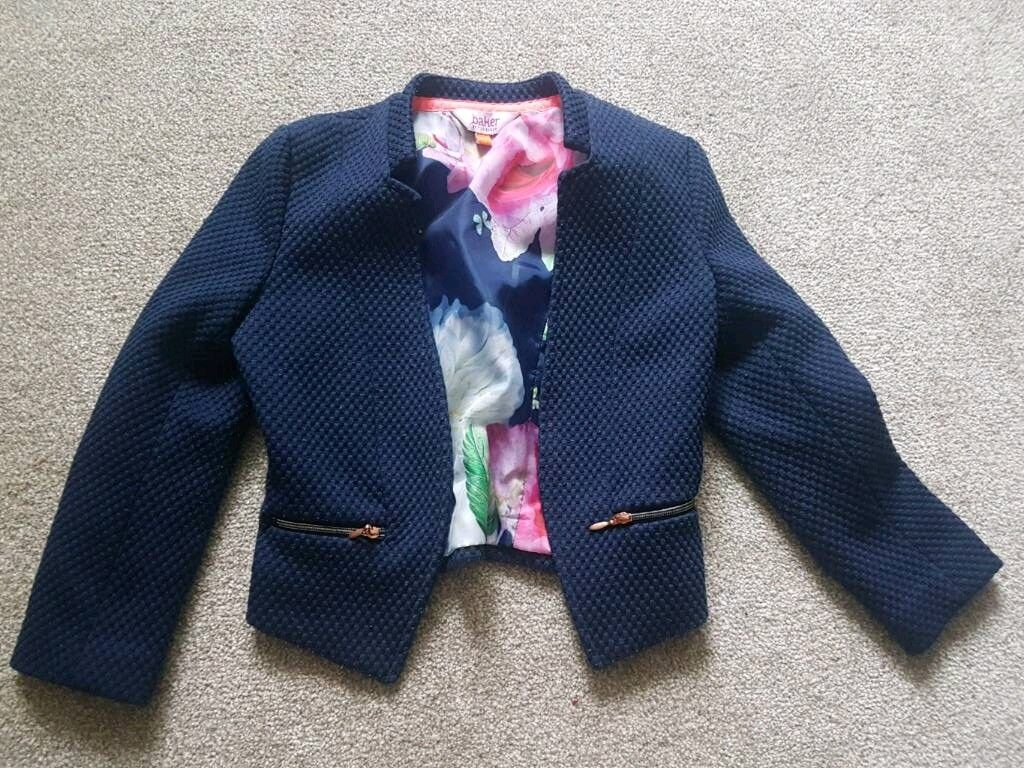 Ted Baker girls jacket. Very smart. Blue. 3 years