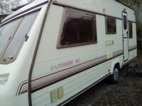 Sterling Eccles sapphire se 5 berth caravan 1995 no damp with full awning