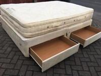 Kingsize divan bed with drawers-£90 delivered