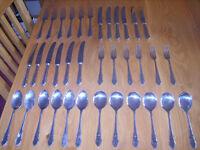 36 piece Sheffield stainless steel cutlery set