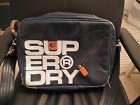 Mens Blue Superdry Messenger Bag.