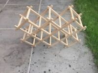 Fold-out Wooden Wine Rack