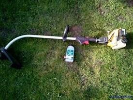 JCB petrol garden trimmer / strimmer with 2 stroke oil