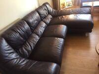 Large bespoke corner Leather sofa