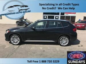 2013 BMW X1 AWD GOOD KM'S (115337) ROOF HEATED WHEEL & SEATS!
