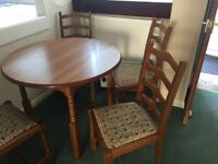 Small Dining Table 4 Chairs