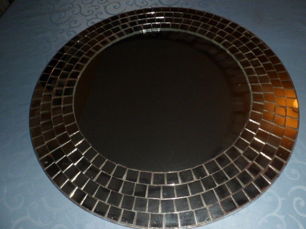 Ikea Tranby Mosaic Edged Mirror Large Circular 20 Diameter