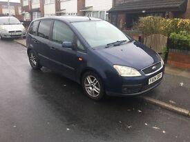 blue ford c-max, family car 1.8L petrol