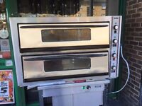 CATERING COMMERCIAL USED DOUBLE DECK PIZZA OVEN FAST FOOD RESTAURANT BAKERY KITCHEN BAR