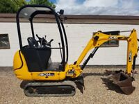 JCB 801.4cts 1.5 tonne mini digger. Very straight, low hrs