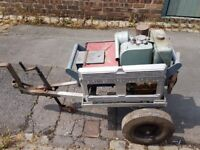 Gardiner Marshall / Petter AC1 3kva Diesel Generator With Site Trailer. Working. OFFERS ACCEPTED