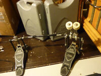 TAMA IRON COBRA DOUBLE KICK, TWIN PEDAL, ROLLING GLIDE WITH ORIGINAL CASE