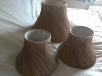 Lampshades - pleated coffee colour