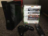 Xbox 360 Slim 250GB + Kinect + 15 Games