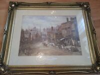 """""""A Busy Street"""" by Louise Rayner 1832-1924 Chester Vintage Framed Picture"""
