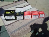 HILTI TYPE NAILS, for DX450, metal washered, 6 boxes various sizes