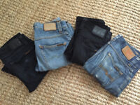 Range of Nudie jeans for sale