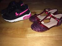 Girls party shoes & trainers size 10