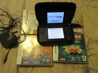 Black Nintendo DS Lite Bundle with Four DS Games and charger, Stylus & case