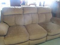 Free reclining sofa vgc. a must for any home and no delivery collection only