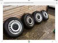 Vw t5 transporter steel wheels with very good tyres