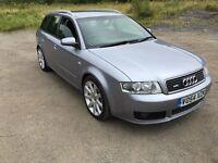 Audi A4 s line estate 2004 fsh silver 18 inch alloy wheels