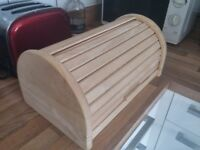 Wooden Bread Bin, Domed, slide-up door, W39 x D23 x H17 (cm, appx)
