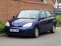 Toyota Prius Hybrid Electric CVT Auto (2003/03) + Genuine 54,000 Miles + FSH +Family Owned Since New