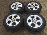 "For sale - jaguar s type 16"" alloy wheels - good tyres"