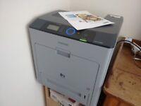Samsung CLP-770ND colour laser printer. Prints on both sides of A4. Bargain - have retired!!