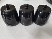 BLACK KITCHEN CANISTERS