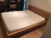 Ikea Malm Bed, Oak Veneer, King Size (160 x 200), As New Condition (RP £200)