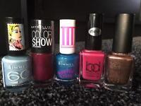Rimmel, BD, Maybelline nail polishes NEW